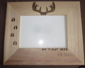 Items Similar To My First Deer Buck With Date Wooden Wood Burned 5
