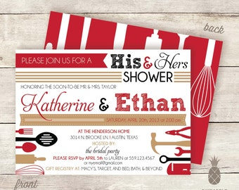 His & Hers Shower Invitations