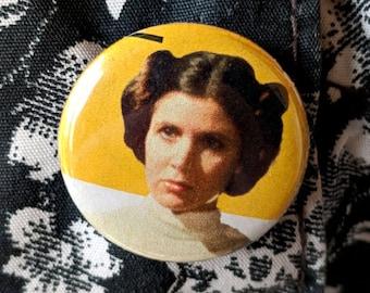"Princess Leia 1"" Button or Magnet Star Wars"