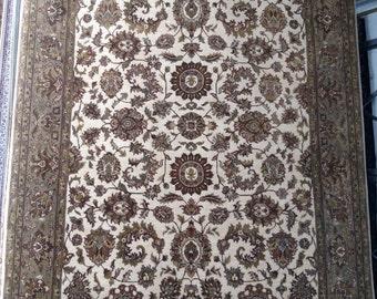 1990s Vintage, Hand-Knotted, Indo-Tabriz Rug (1148)