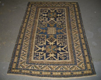 1910s Hand-Knotted Kabistan Caucasian Rug (3059)