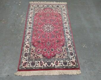 1980s Vintage, Hand-Knotted, Pakistani Tabriz Rug (2246)