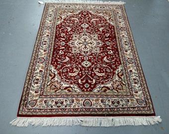 1980s Vintage, Hand-Knotted, Indo-Tabriz Rug (1473)