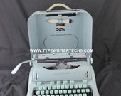 EXC 1966 Hermes 3000 Refurbished Techno Elite Portable Typewriter W Warr