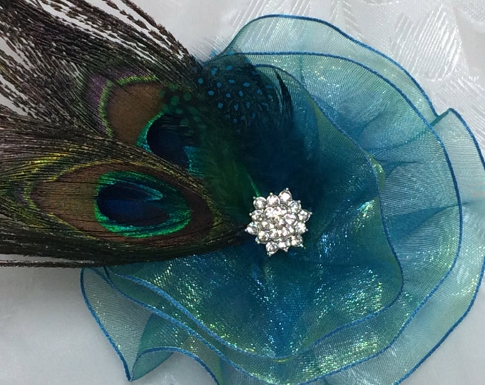 Peacock Feather Corsage Bridesmaid Corsage Magnetic Jewelry
