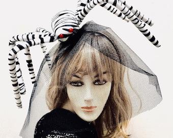 Large Spider Headpiece, Halloween Spider Fascinator, Instant Spider Costume, Ready to Ship