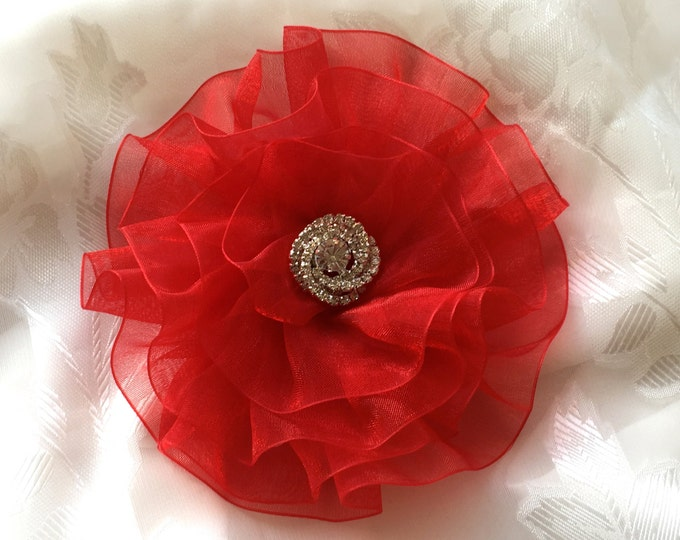 Magnetic Red Flower Valentine Corsage