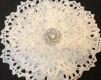 Crochet Cotton Kippah, Crochet Kippah, Ladies Yarmulke