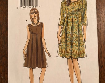 Very Easy Vogue V8509 Size BB 8-10-12-14 Ladies Dress Pattern For Sale, new