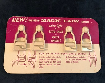 Magic Lady Garters, 1960's, never used in packaging, set of 4