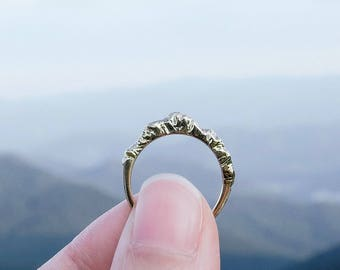 Mountain Ring, Mountain Jewelry, Silver Nature Ring, Silver Mountain Ring, Inspirational Ring, Graduation Ring (Tall Version)
