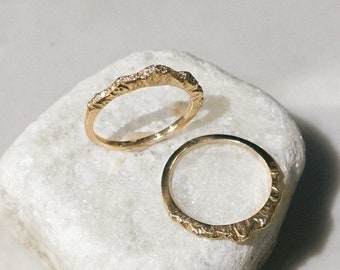 Nature Engagement Ring, Mountain Engagement Ring, Nature Diamond Ring, Diamond Mountain Ring, Mountain Wedding Ring (High Version)