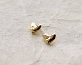 NEW! Solid Gold Heart Studs 14k Gold Earrings Gold Heart Earrings Small Gold Earrings