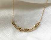 Gold Mountain Necklace, Nature Jewelry, Mountain Jewelry, Gold Nature Necklace, Mountain Necklace