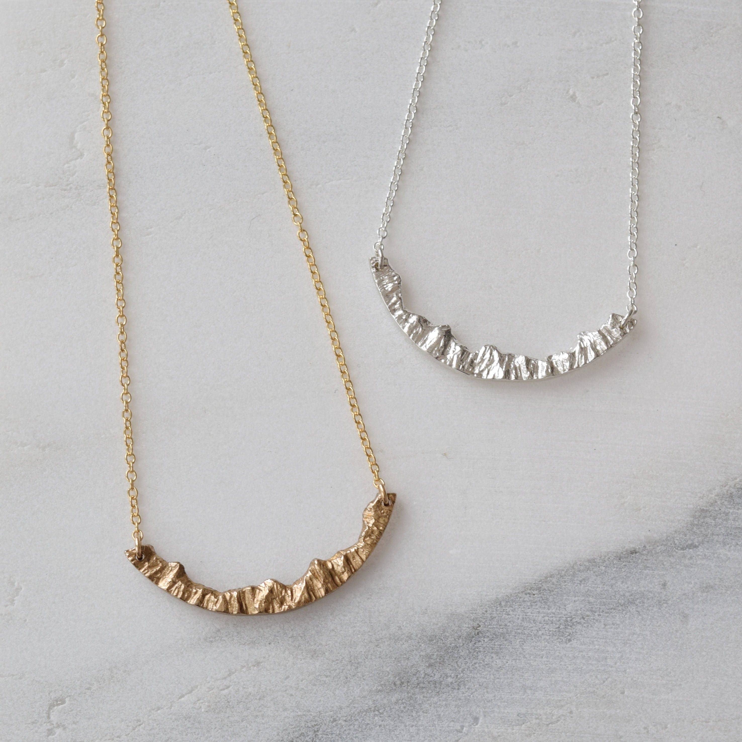 mountain necklace silver nature necklace travel necklace. Black Bedroom Furniture Sets. Home Design Ideas