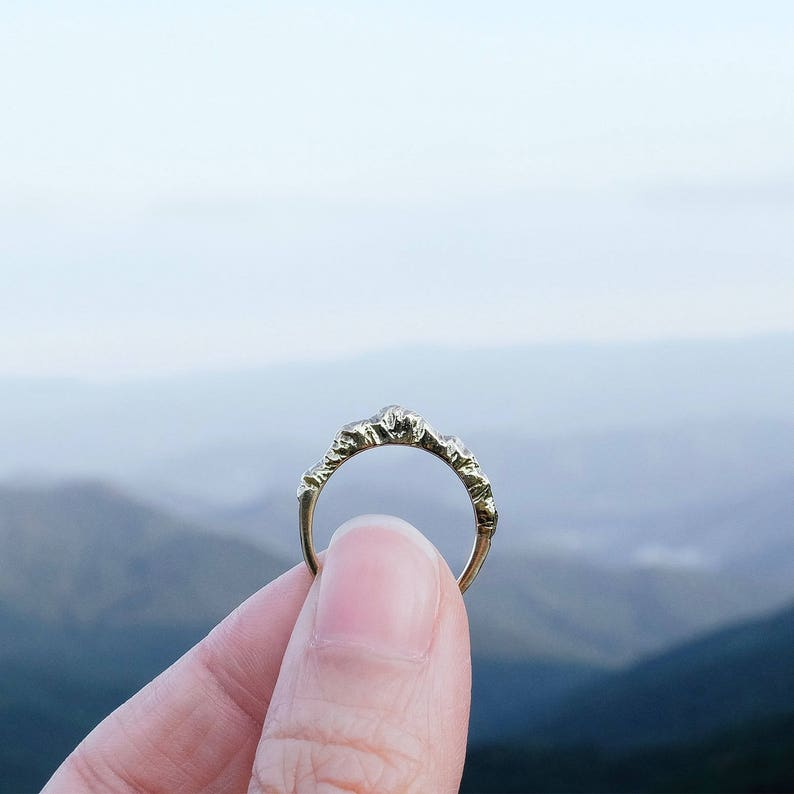 Mountain Ring Nature Jewelry Silver Nature Ring image 0