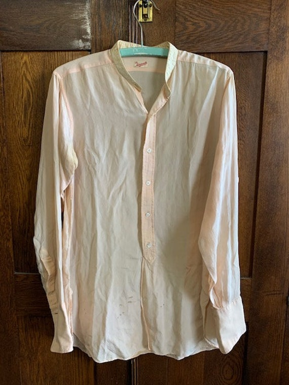 Rare 1900's 1920's Mens Silk Shirt in very good co