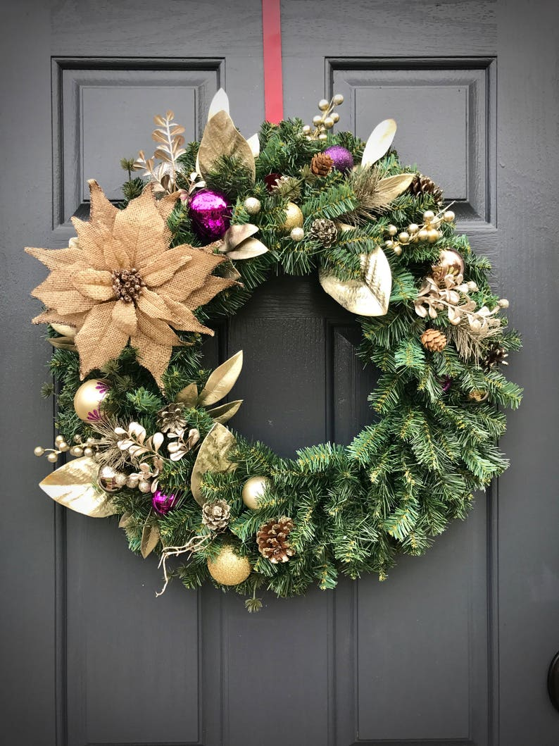 Christmas Wreaths Door Wreaths for Christmas Gift for Her image 0