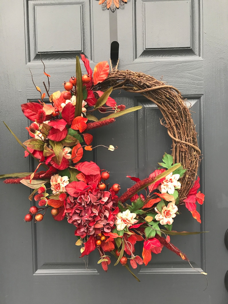 Fall Wreath Fall Door Wreaths Wreaths for Fall Front Door image 0