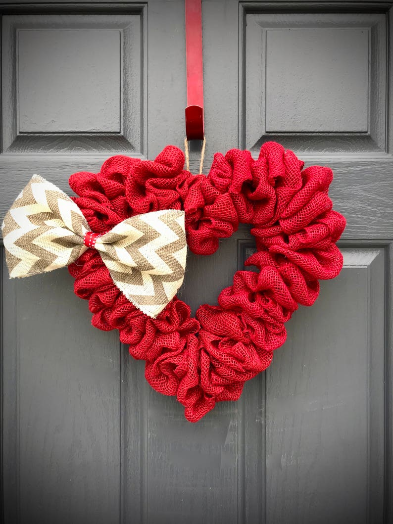 Red Heart Wreath Heart Wreaths Red Hearts Heart Door image 0