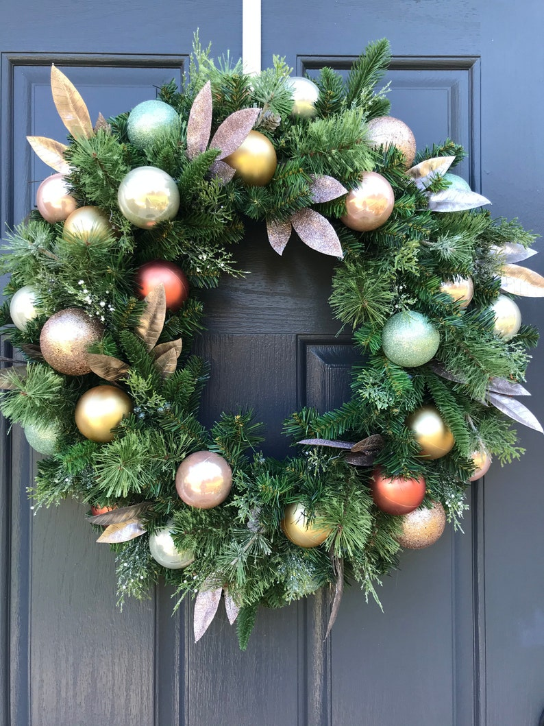 Christmas Wreaths Christmas Ball Wreath Multicolored Wreaths image 0