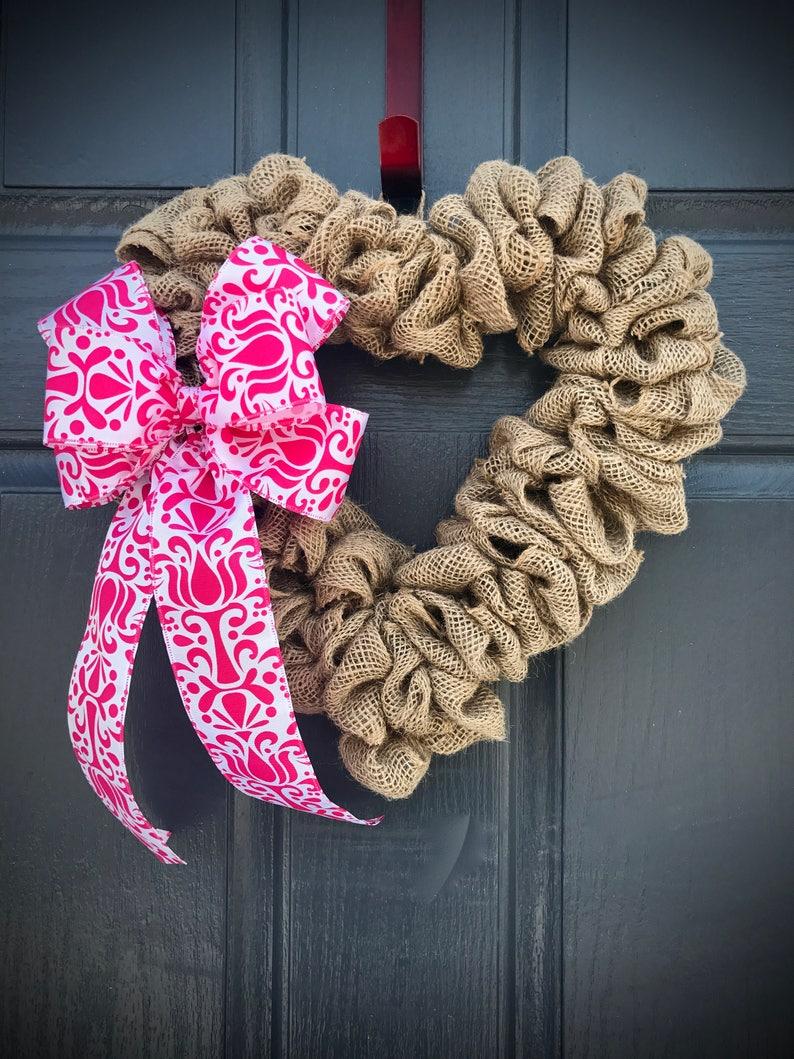 Burlap Wreaths Heart Shaped Wreaths Heart Wreaths Love image 0