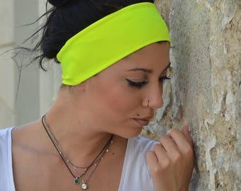 13eba18506d53 Neon Yellow Headband Womens Headband Workout Headband | Etsy