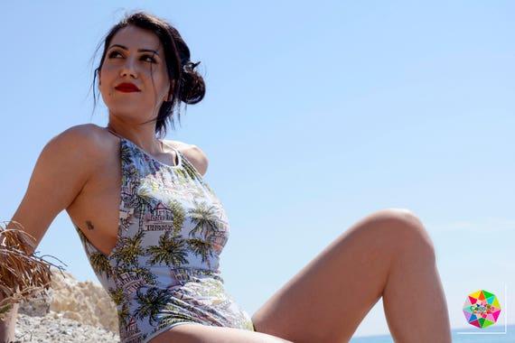 Woman Swimwear, Woman Swimsuit, Woman Beachwear, Printed Swimwear, Vintage Swimwear, One Piece Swimsuit, Retro Style, Bathing Suit
