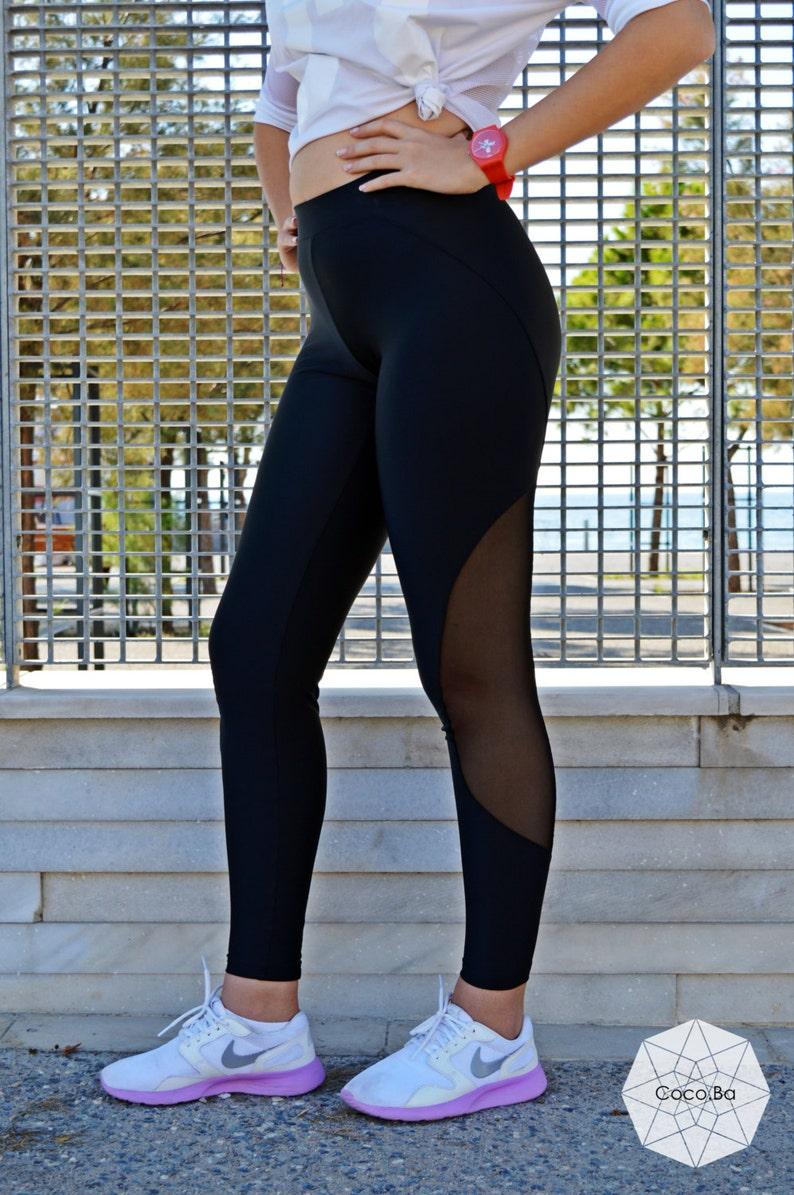03e1e205b52f4d Black Leggings Women Leggings Gym Leggings Stretch Pants | Etsy