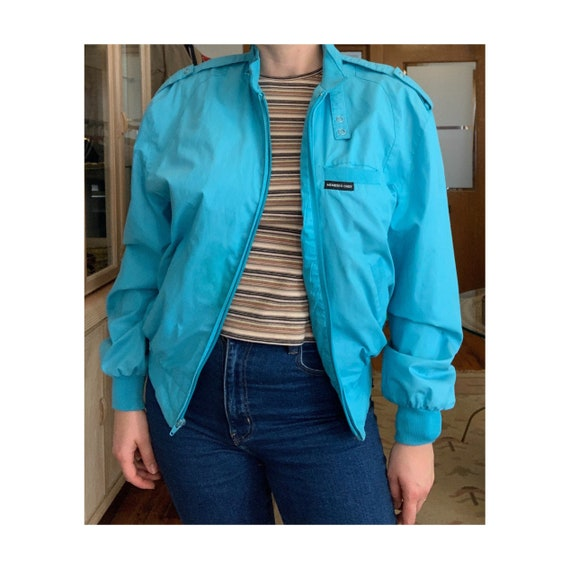 Vintage 80s Blue Members Only Jacket