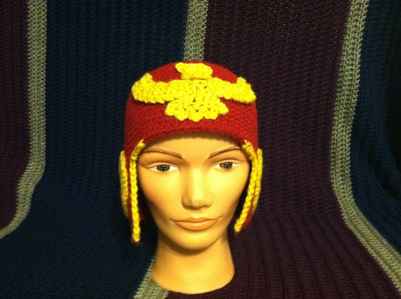 54701e0e6e6 Red and Gold Captain Falcon beanie helmet video game