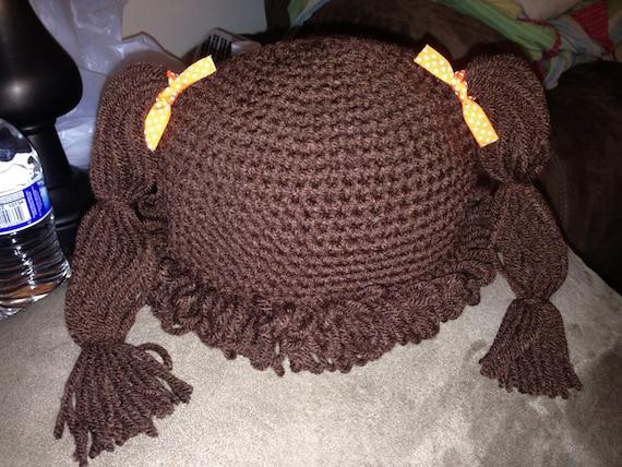 Kohl Patch Puppe Braun Mütze Hut Mütze Häkeln Etsy