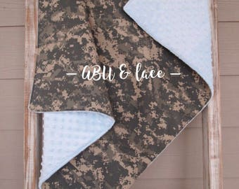 READY TO SHIP - Army Acu Theme Baby Blanket