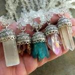Quartz Point Necklace, Selenite Pendant Necklace, Quartz Necklace, Raw Stone Necklace, Bohemian Jewelry
