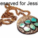 RESERVED for Jessie - Vintage Turquoise Copper Pendant Necklace Bohemian Jewelry