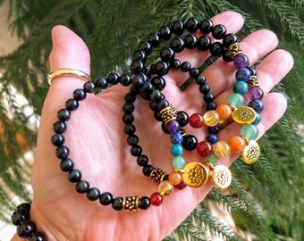 Chakra Stone Bracelet, Bohemian Jewelry