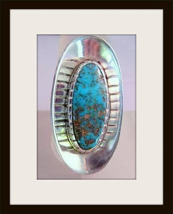 Turquoise Ring, Sterling Silver Ring, Vintage Ring
