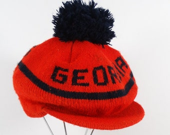 Vintage UGA Tam O Shanter Knit Hat f4d9c00453e
