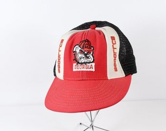 2ce54285cfc 1980s Georgia Bulldogs Trucker Cap Ball Cap Grunge UGA University of GA  Ballcap