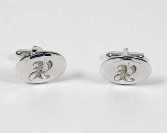 Vintage Swank P Monogram Cuff Links Midcentury 1960s Style Gifts for Him