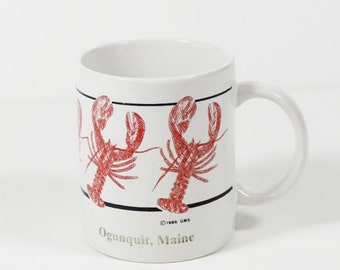 Maine Lobster Coffee Mug - Souvenir Lobster Mug - Ogunquit Maine