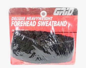 cb5fe893 Deluxe Heavyweight Forehead Sweatband NOS 1980s Excercise Band Retro Gag  Gift