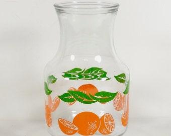 Anchor Hocking Glass Orange Juice Carafe