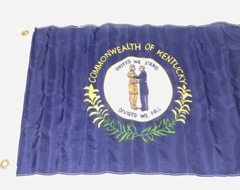 a9abb59630cd2 Vintage Commonwealth of Kentucky Flag Small KY Flag United We Stand Divided  We Fall