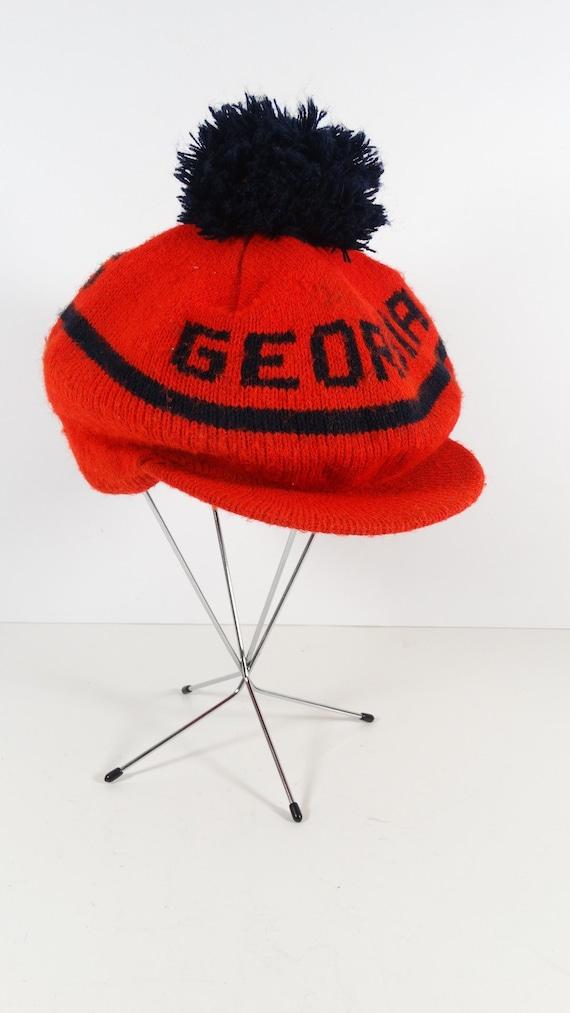Vintage UGA Tam O Shanter Knit Hat Vintage Georgia  0adb7d8ec6c