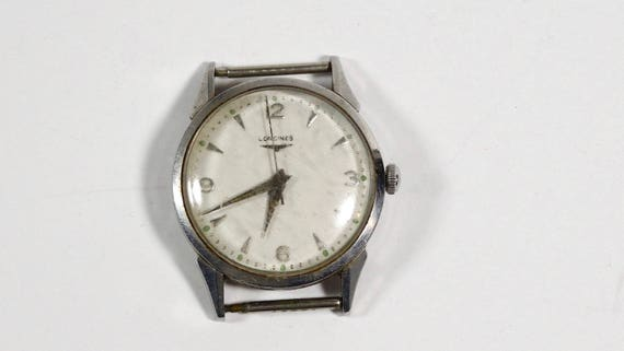 Longines Vintage Stainless Steel Working Watch, 19