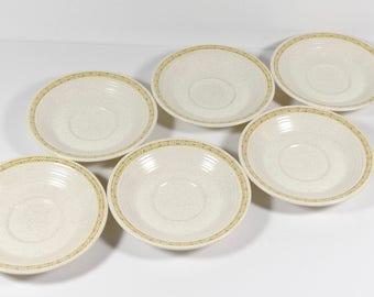 Franciscan Earthenware  Hacienda Gold Saucers - Set of 6