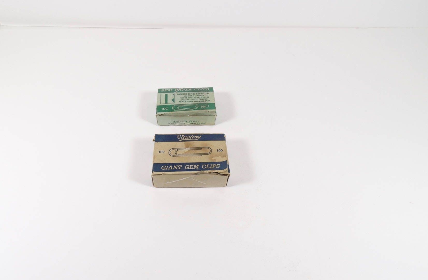 Vintage Office Supplies Old Gem Clips Paper Clips Stocking Stuffer  Industrial Office Prop