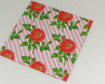 Vintage Gift Wrap - Roses Rose Flowers Scrapbooking Supplies Paper