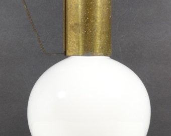 Kenilworth  White and Brass Ceramic Carafe - Midcentury Design Water Jug Midcentury Modern Retro Carafe Ceramic Carafe